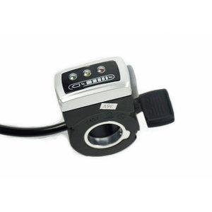 Daumengashebel 0-5V mit FWD/REV und Akku indicator für 24V DC Controller