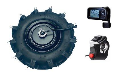 """Quinder brushless Radnabenmotor 16"""" 48V 550Watt mit DC Kontroller und Gas"""