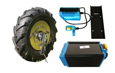 Kompletter Antriebssatz 24 V 430 Watt max. Leistung inkl. Gas, Regler und Batterie
